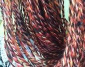 Licorice - 3-ply handspun yarn alpaca, mohair, merino, lambswool, angelina