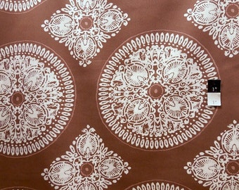 Ty Pennington SATY007 Fall 11 Medallion Brown Cotton HOME DECOR Fabric 1 Yard