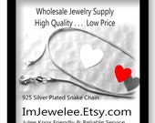 10 Piece 925 Sterling Silver SNAKE Chain Necklace 18 Inch WHOLESALE Lot of 10 1 mm GORGEOUS