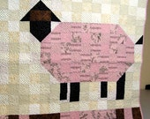 Baby Quilt  Pink Sheep