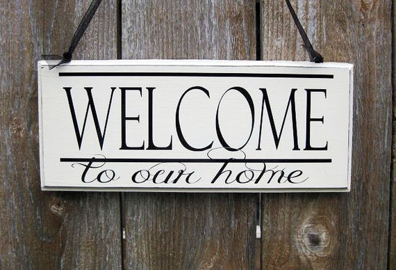 Our Home Wall Decor : Welcome sign to our home wall signhome decor