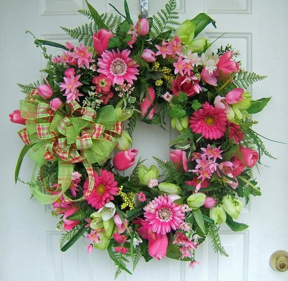 Last One Beautiful Spring Wreath Custom Order Lime Hot