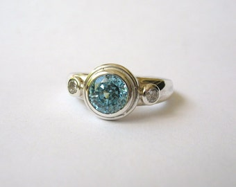 Silver Three Stone Ring