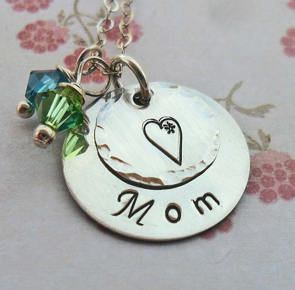 s day necklace with birthstones personalized