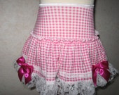 Pink,White Gingham Check Lace Frilly Festival Mini Skirt,Punk,Lolita,All sizes,Goth,sequoia