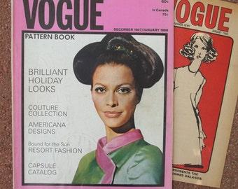 Vtg Vogue Pattern Book December 1967 January 1968...Galitzine Forquet Heim Larouche Balmain Molyneux Oscar de la Renta & More