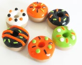 Halloween Doughnuts Set of 6 Magnets