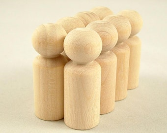 30 Wood Peg Dolls - Boys - Unfinished Wooden Peg Dolls for DIY