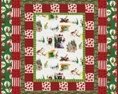 COZY GRINCHMAS FLANNEL Quilt Kit - How the Grinch Stole Christmas Robert Kaufman Fabrics Dr. Seuss Fabric Red Green - Rare & Out of Print