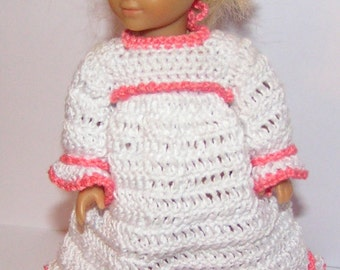 AG Mini crochet pattern - nightgown with bunny slippers