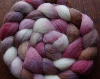 Alice In Wonderland Inspired White Queen Spinning Fiber Corriedale