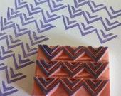 Handcarved rubber stamp - pattern print
