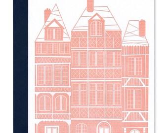 Pink House - Letterpress