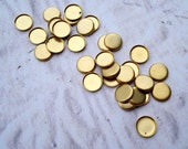 Small 6mm Brass Low Wall Closed Back Round Bezel Settings for Flat Back Cabs or Jewels (24 pieces)