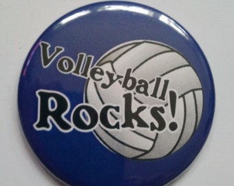 Pocket Mirror - VOLLEYBALL ROCKS