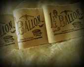 Le Balloon Hand Stamped Distressed Trim - Hot Air Balloon