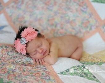 Baby Girls Headbands, Baby Headbands, Newborn Headbands, Baby Hair Bows, Coral Headbands, Baby Headband Bow, Aqua Headbands, Girls Hair Bows