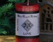 LOVE Spell Candle 2x3 Pillar