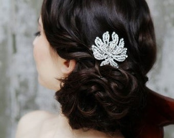 Large Bridal Rhinestone Hair Comb