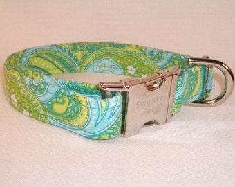 South Beach Paisley Summer Dog Collar by Swanky Pet