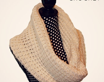 Download Now - CROCHET PATTERN Waffle Cowl - One Size Fits All - Pattern PDF