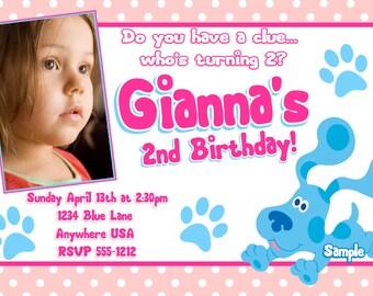Blues Clues Birthday Invitations / Girls