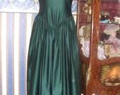 Dark green Promdress,Bridesmadedress,Partydress,St.Patrick'sday dress.