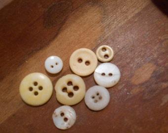 civil war era antique bone and porcelain buttons underwear buttons