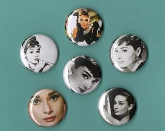 Audrey Hepburn MAGNETS Set of 6