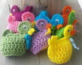 Crochet easter egg DUCK cozy, fun, seasonal,  & cute. covers plastic Easter egg.