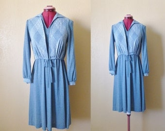 vintage  shirt dress with vest. union made, USA