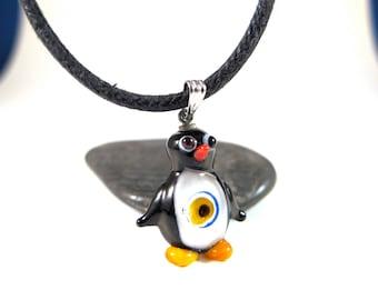 Penguin Evil Eye Pendant