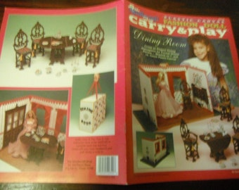 Plastic Canvas Patterns Carry and Play Dining Room Needlecraft Shop 933746 Plastic Canvas HTF
