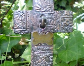 Custom Pet Memorial Garden Tag Cross