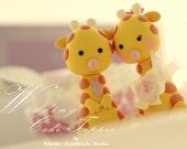 giraffe Wedding Cake Topper---k784