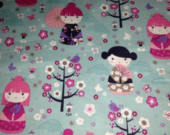 Japanese Doll Fabric By The Yard
