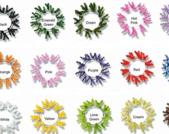 "BUY 12  Work Wreaths to Make a 24"" wreath.......Only  6.50 each...You Choose the Colors"