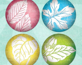PASTEL BOTANICAL Digital Collage Sheet 2.25in Large Circles Pocket Mirror Size - no. 0006