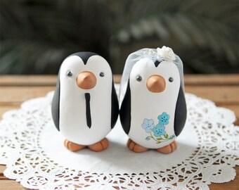 Wedding Cake Topper - Penguins - Medium