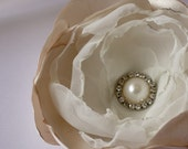 Satin Ivory Flower Fascinator