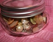 Jar of Pearly Vintage Buttons