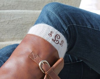 Monogram Boot Socks Personalized Knee High, Personalized Gift, Gift for Her, Fashion Accessory, Gift, Socks