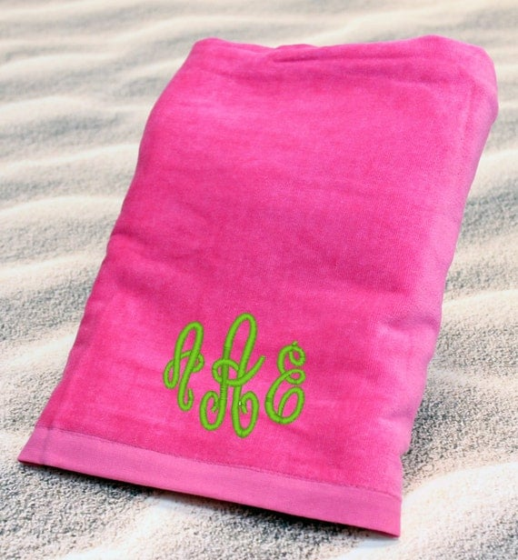 Personalized Beach Towel Embroidered With Name Or By