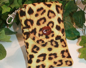 Smartphone case ,Phone Purse, Fabric cases,  Droid case, iPod touch case, iPhone 5 case, iPhone 4-4s case, iPhone Case, Blackberry, Leopard