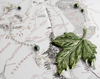 Green Ivy Leaf Necklace | Leaf Necklace | Nature Jewelry | Leaf Pendant