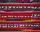 Woven Mexican Fabric  Dark Red 1 YARD