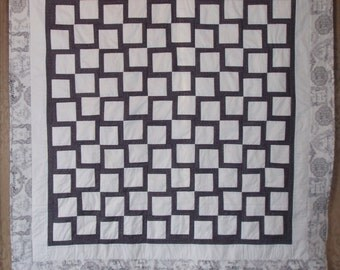 """CUSTOM ORDERS for 60""""x60""""  quiltwith 100 white blank squares for signing"""