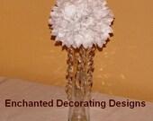 """5""""D Wedding Pomander Ball centerpiece silk flower with Crystals wedding flower ball arrangement wedding kissing ball silk flower centerpiece"""