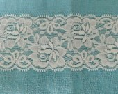 WIDE Stretch Lace Medium weight IVORY 457 -2 1/4 inch -5 yards for 7.50