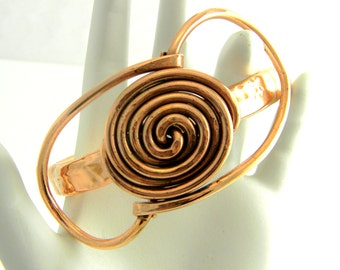 7 1/8th inch Freeform Copper Bangle Number 2 Class 5 Storm Winds